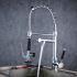 キッチン水栓 台所蛇口 冷熱混合水栓 シンク用蛇口 シャワー吐水式 クロム BL0782