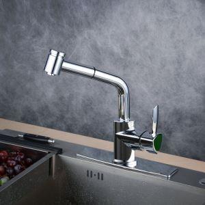 キッチン水栓 台所蛇口 引出し式水栓 冷熱混合水栓 シャワー吐水式 クロム BL1747