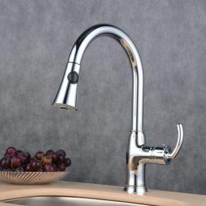 キッチン水栓 台所蛇口 引出し式水栓 冷熱混合水栓 シャワー吐水式 クロム BL7801