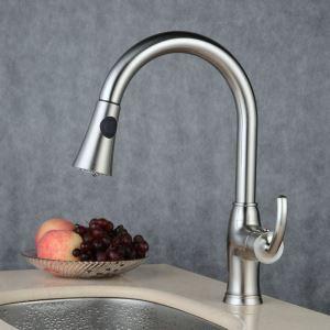 キッチン水栓 台所蛇口 引出し式水栓 冷熱混合水栓 シャワー吐水式 ヘアライン BL7801N