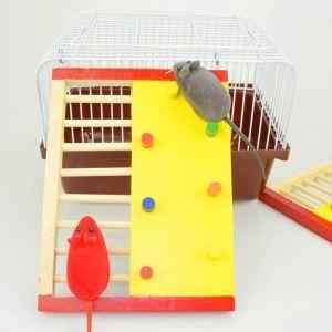ハムスターおもちゃ 梯子 ロッククライミング 木製 遊ぶ場 フック付き ゲージ内装