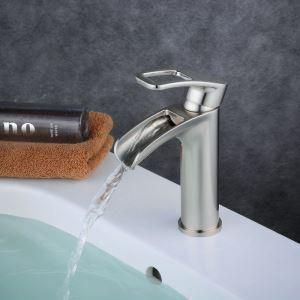 洗面水栓 バス蛇口 冷熱混合水栓 水道蛇口 手洗器水栓 ヘアライン BL6080N