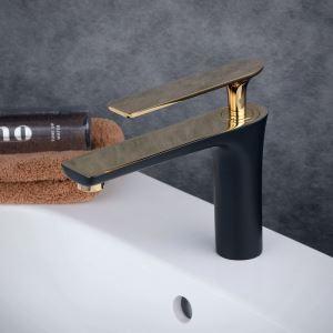 洗面水栓 バス蛇口 冷熱混合水栓 水道蛇口 手洗器水栓 黒色 BL6307BG