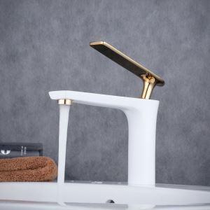 洗面水栓 バス蛇口 冷熱混合水栓 水道蛇口 手洗器水栓 白色 BL6307WG