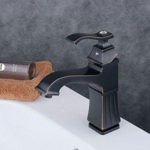 洗面水栓 バス蛇口 冷熱混合水栓 水道蛇口 手洗器水栓 黒色 BL6311B