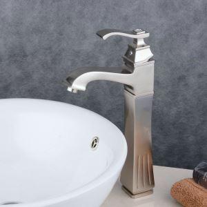 洗面水栓 バス蛇口 冷熱混合水栓 水道蛇口 手洗器水栓 ヘアライン BL6311HN