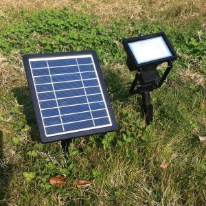 LEDソーラーライト 屋外ライト 庭園灯 ソーラーパネル分離式 地面に埋込み式 LEH53415BI