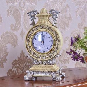 置き時計 卓上時計 ポリレジン アンティーク風 欧米風