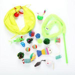 猫のおもちゃ 猫じゃらし トンネル ネズミ 魚 薄荷 ボール 釣りおもちゃ 不倒翁 ニット セット 20個入り