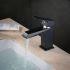 洗面水栓 バス蛇口 冷熱混合栓 立水栓 水道蛇口 手洗器水栓 黒色 BL6317B