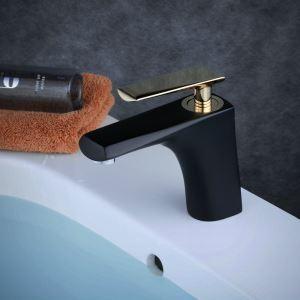 洗面水栓 バス蛇口 冷熱混合栓 立水栓 水道蛇口 手洗器水栓 黒色&金色