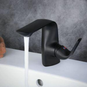 洗面水栓 バス蛇口 冷熱混合栓 立水栓 水道蛇口 手洗器水栓 黒色 BL7522B
