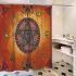シャワーカーテン バスカーテン 防水防カビ プリント オシャレ 浴室 お風呂 リング付 恶魔の目柄 1枚
