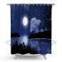 シャワーカーテン バスカーテン 防水防カビ プリント オシャレ 浴室 お風呂 リング付 夜景柄 3D立体 1枚