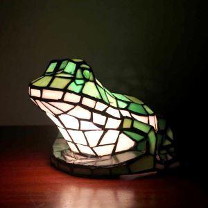 テーブルランプ ティファニーライト ステンドグラスランプ 枕元スタンド ナイトライト カエル型 1灯
