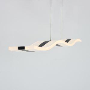 LEDペンダントライト 照明器具 天井照明 リビング照明 S型 黒色 1灯 LED対応