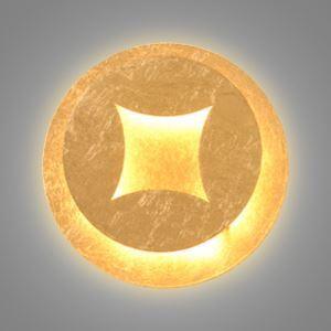 LED壁掛けライト ウォールランプ ブラケット 間接照明 玄関照明 オシャレ LED対応 金色 円形