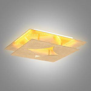 LEDシーリングライト 照明器具 間接照明 リビング照明 天井照明 オシャレ LED対応 金色 方形