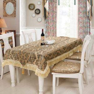 テーブルクロス テーブルランナー テーブルカバー 形状記憶 シェニール 欧米風 珈琲色 150*200cm 160*220cm