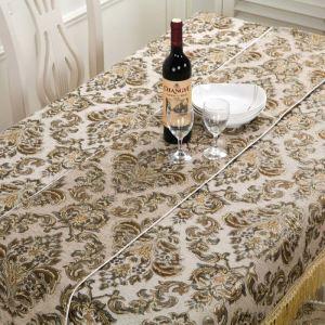 テーブルクロス テーブルランナー テーブルカバー 形状記憶 シェニール 欧米風 豪華 150*200cm 160*220cm