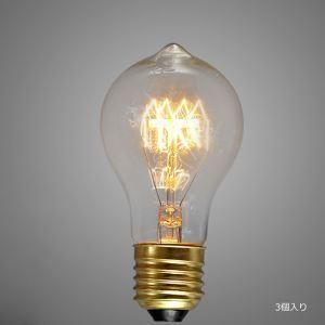 レトロなエジソン電球 ハロゲン電球 口金E26 A19 40W 3個入り