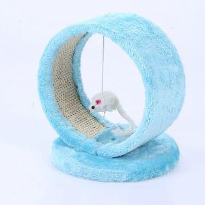 猫タワー 据え置き 爪とぎ 猫スクラッチ 円筒形 爪磨き ふわふわ 家具傷防止 ストレス解消