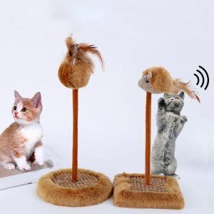 猫タワー 猫おもちゃ 猫つりー ネズミ 音出す 爪とぎ 据え置き ストレス解消 爪磨き