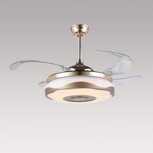 LEDシーリングファンライト シャンデリア 照明器具 天井照明 リビング照明 オシャレ LED対応 リモコン付 QM20021