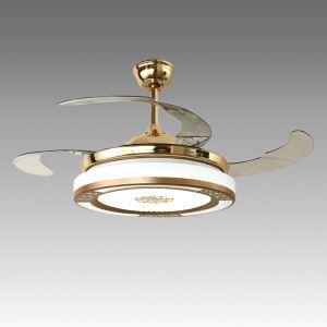 LEDシーリングファンライト シャンデリア 照明器具 リビング照明 ダイニング照明 オシャレ LED対応 リモコン付 QM50111