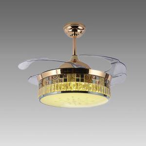 LEDシーリングファンライト シャンデリア 照明器具 リビング照明 ダイニング照明 オシャレ LED対応 リモコン付 QM5013