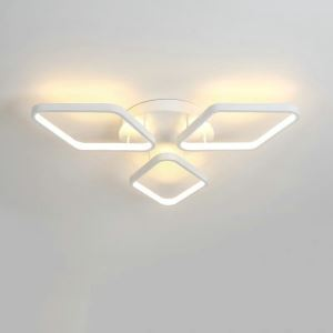 LEDシーリングライト 照明器具 間接照明 リビング照明 天井照明 オシャレ 菱形 LED対応 三環 CP101