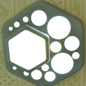 LEDシーリングライト 照明器具 間接照明 玄関照明 天井照明 子供屋照明 LED対応 灰色 六角形