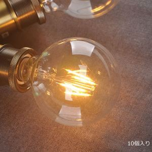 LED電球 エジソン電球 レトロな電球 口金E26 G95 6W 10個入り