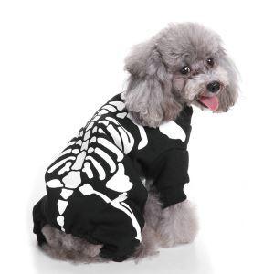 ペット服 ハロウィン 骷髅 コスプレ ドクロ 仮装 お祝い日 おしゃれ 可愛い 犬服 猫服