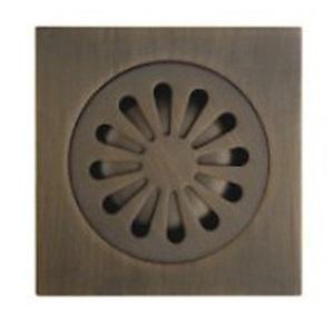 浴室床ドレイン 排水ドレイン 排水用品 真鍮製 ブロンズ色(1018-J-29-13)