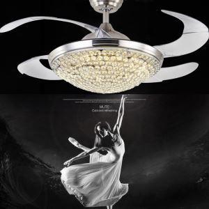 LEDシーリングファンライト シャンデリア 照明器具 リビング照明 寝室照明 オシャレ LED対応 リモコン付 QM2099