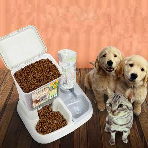 ペット給食器 ペット給水器 餌やり 水飲み 給水給食両用 犬猫用 お留守番 出張