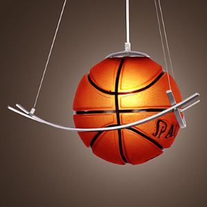 ペンダントライト 子供屋照明 照明器具 バスケットボール かわいい 1灯