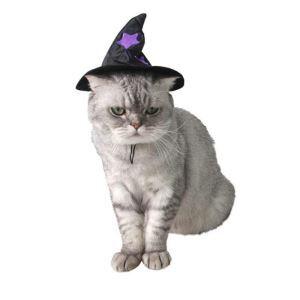 ペット服 ペット用帽子 ハロウィン 魔女帽子 髪飾り 犬猫用 パーティー かわいい コスチューム