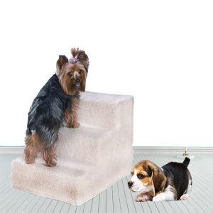 ペット用踏み台 階段 3段 ステップ ネル 洗えるカバー 子犬 老犬 胴長短足 犬猫用