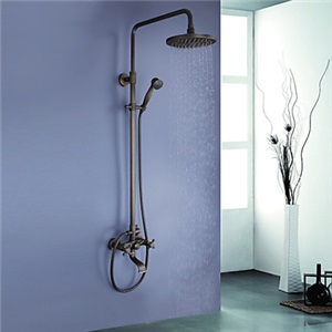 レインシャワーシステム ヘッドシャワー+ハンドシャワー+蛇口 アンティーク