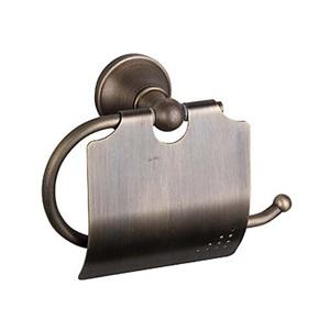 トイレットペーパーホルダー バスアクセサリー 真鍮製 ブロンズ色(1018-J-29-6)