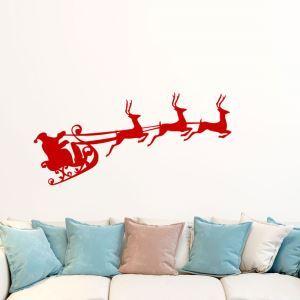 ウォールステッカー 転写式ステッカー PVCシール シート式 壁窓 剥がせる クリスマス柄 ナトカイ・サンタクロース