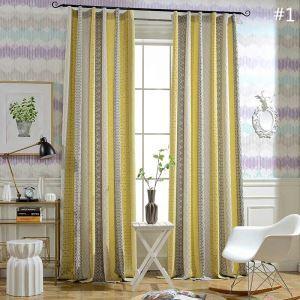 遮光カーテン オーダーカーテン ジャカード 色組み立て オシャレ 綿麻 3級遮光カーテン(1枚)