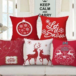 クッションカバー 抱き枕カバー 枕カバー ギフト 捺染 クリスマス柄 Christmas 6色