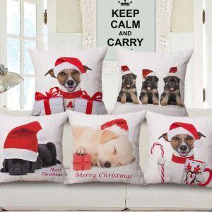 クッションカバー 抱き枕カバー 枕カバー ギフト 動物柄 クリスマス Christmas 5色