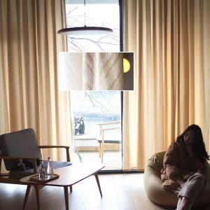 遮光カーテン オーダーカーテン シェニール ジャカード 断熱 波柄 オシャレ 3級遮光カーテン(1枚)
