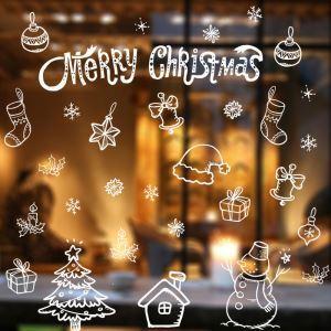 ウォールステッカー 転写式ステッカー PVCシール シート式 壁窓 剥がせる クリスマス柄