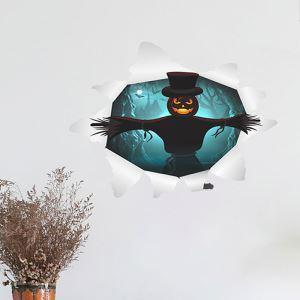 3Dウォールステッカー 転写式ステッカー PVCシール シート式 壁窓用 剥がせる ハロウィン柄 カボチャ