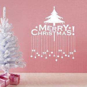 ウォールステッカー 転写式ステッカー PVCシール シート式 壁窓 剥がせる クリスマス柄 クリスマスツリー